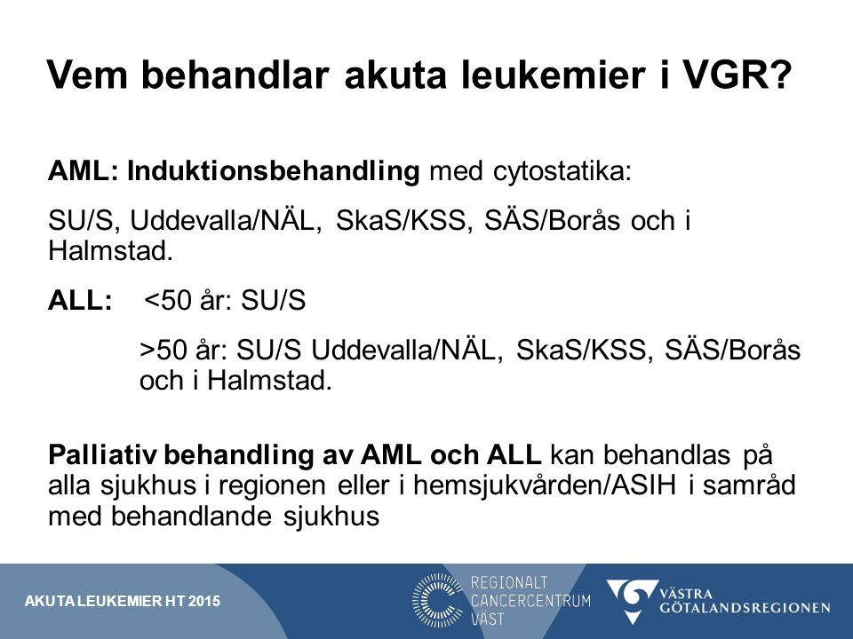Vem behandlar akuta leukemier i VGR
