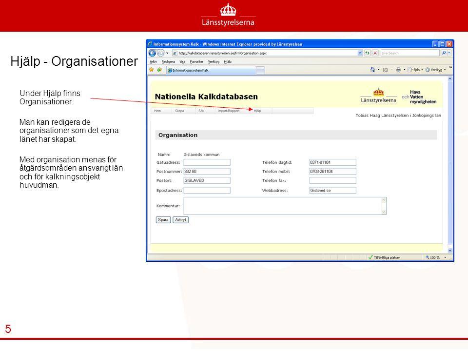 Hjälp - Organisationer