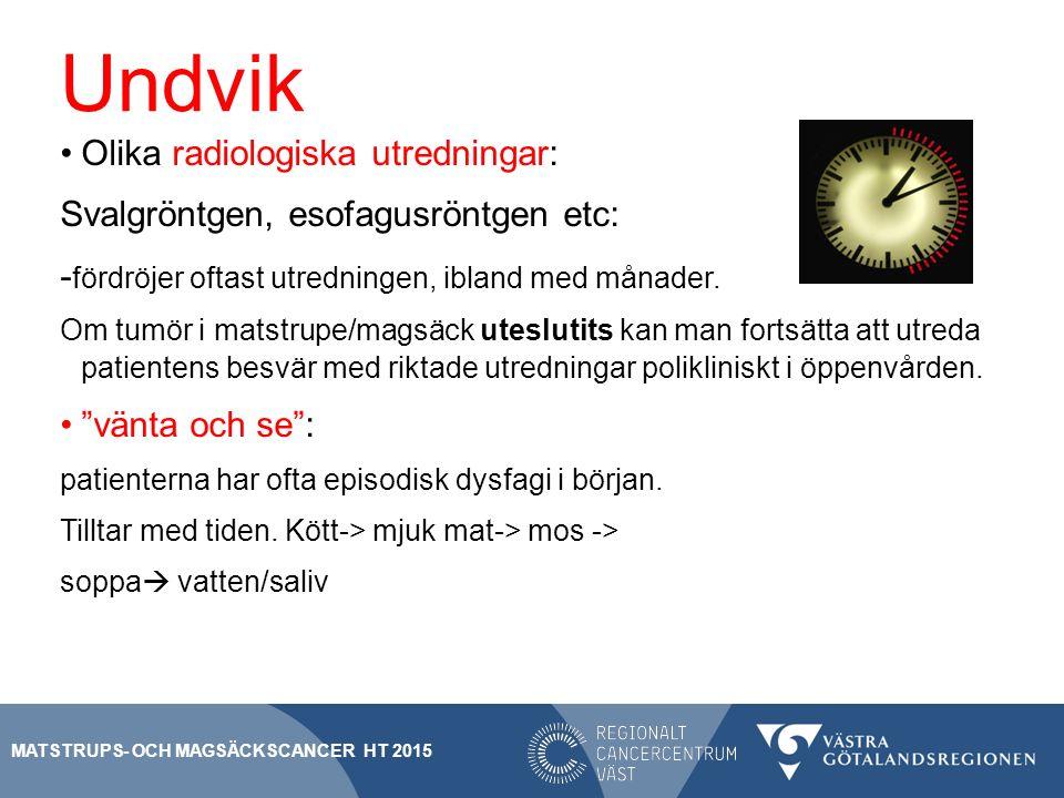 Undvik Olika radiologiska utredningar: