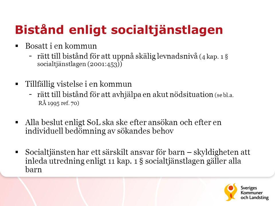 Bistånd enligt socialtjänstlagen