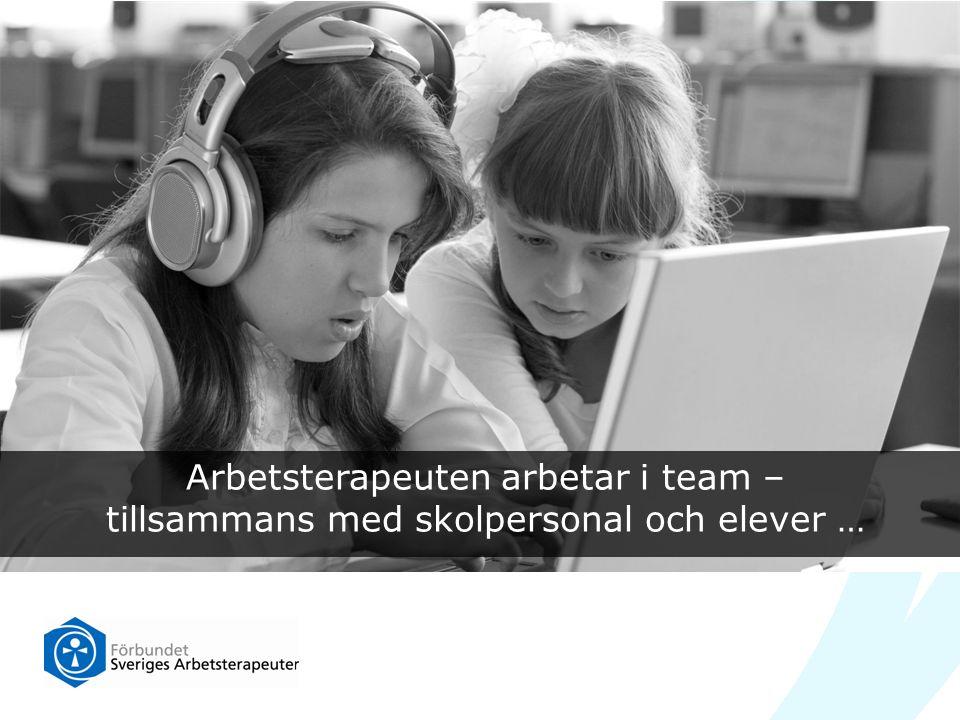 Arbetsterapeuten arbetar i team –