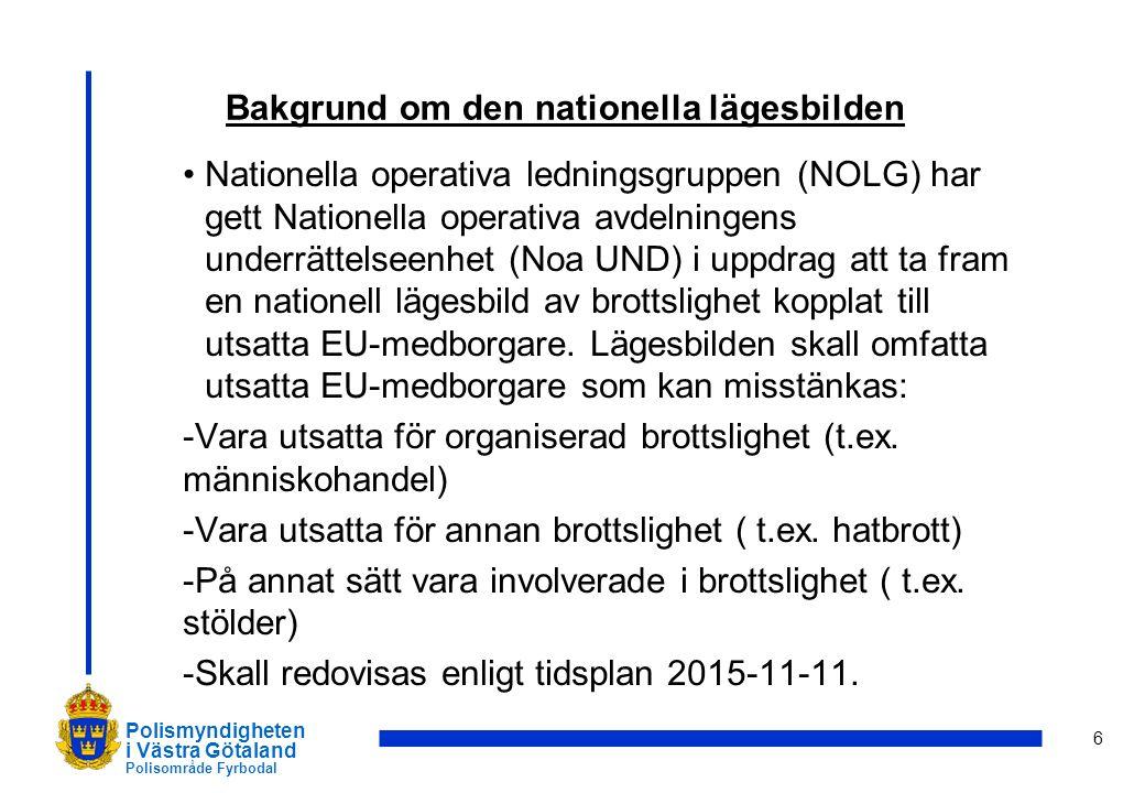 Bakgrund om den nationella lägesbilden