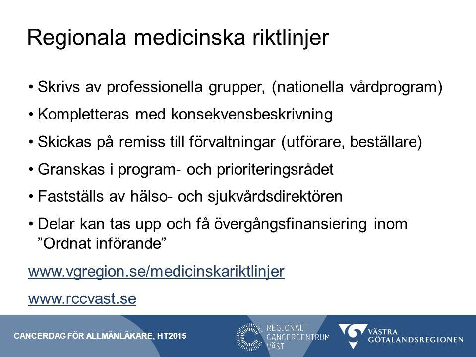 Regionala medicinska riktlinjer