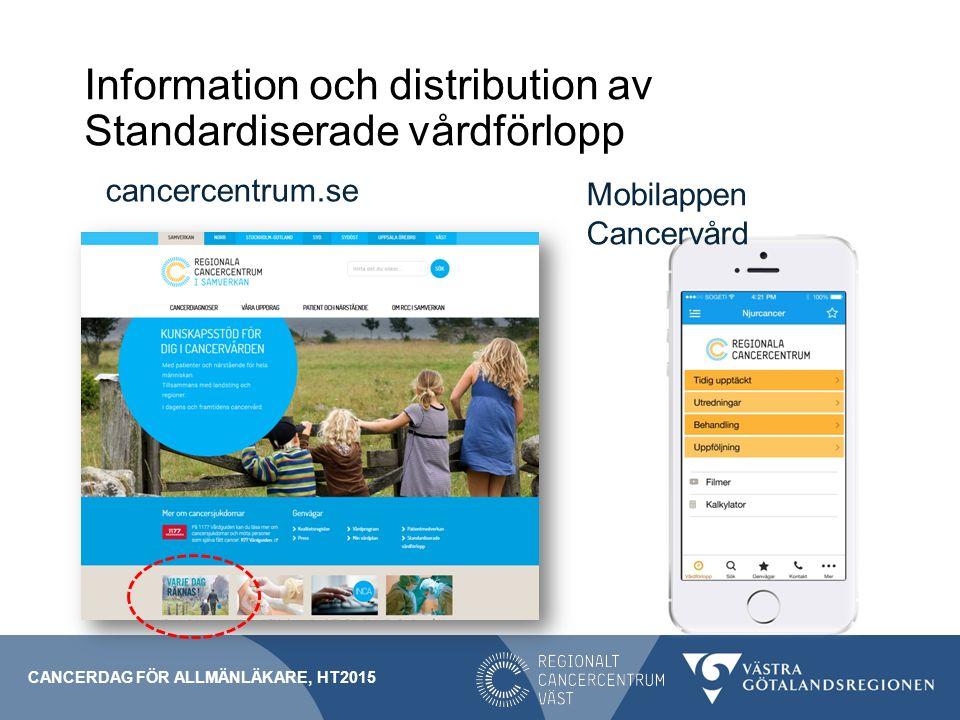 Information och distribution av Standardiserade vårdförlopp