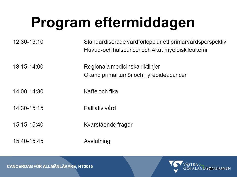Program eftermiddagen