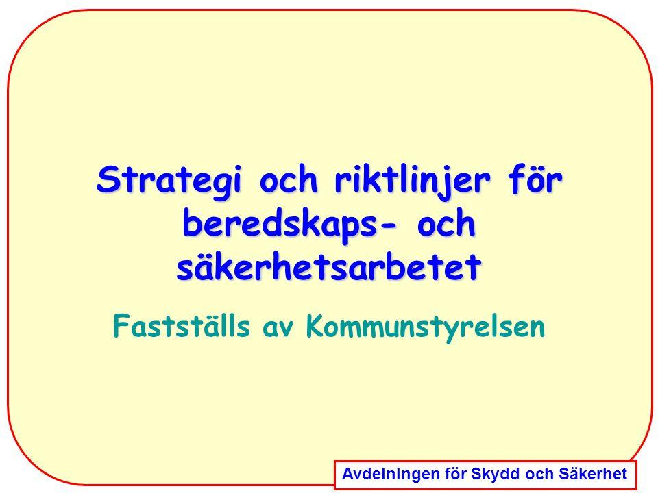 Strategi och riktlinjer för beredskaps- och säkerhetsarbetet