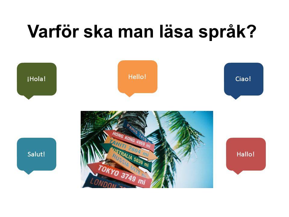 Varför ska man läsa språk