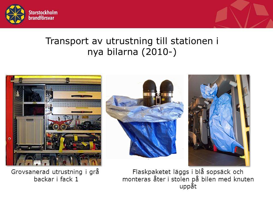 Transport av utrustning till stationen i nya bilarna (2010-)