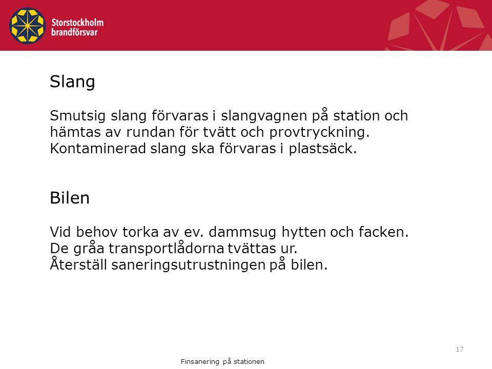 Finsanering på stationen