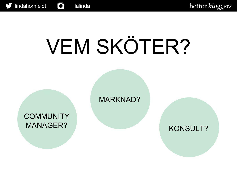 VEM SKÖTER MARKNAD COMMUNITY MANAGER KONSULT