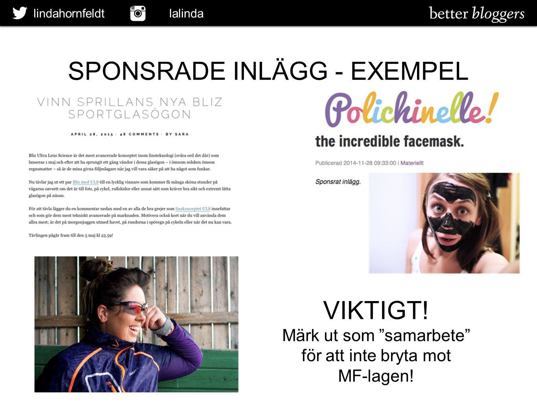 SPONSRADE INLÄGG - EXEMPEL