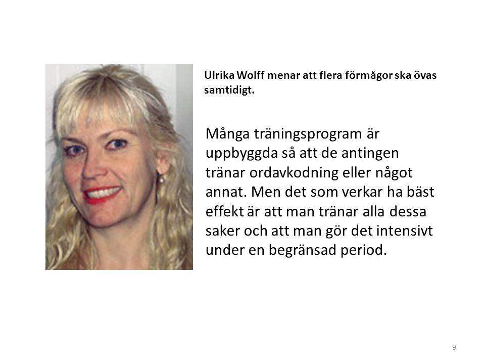 Ulrika Wolff menar att flera förmågor ska övas samtidigt.