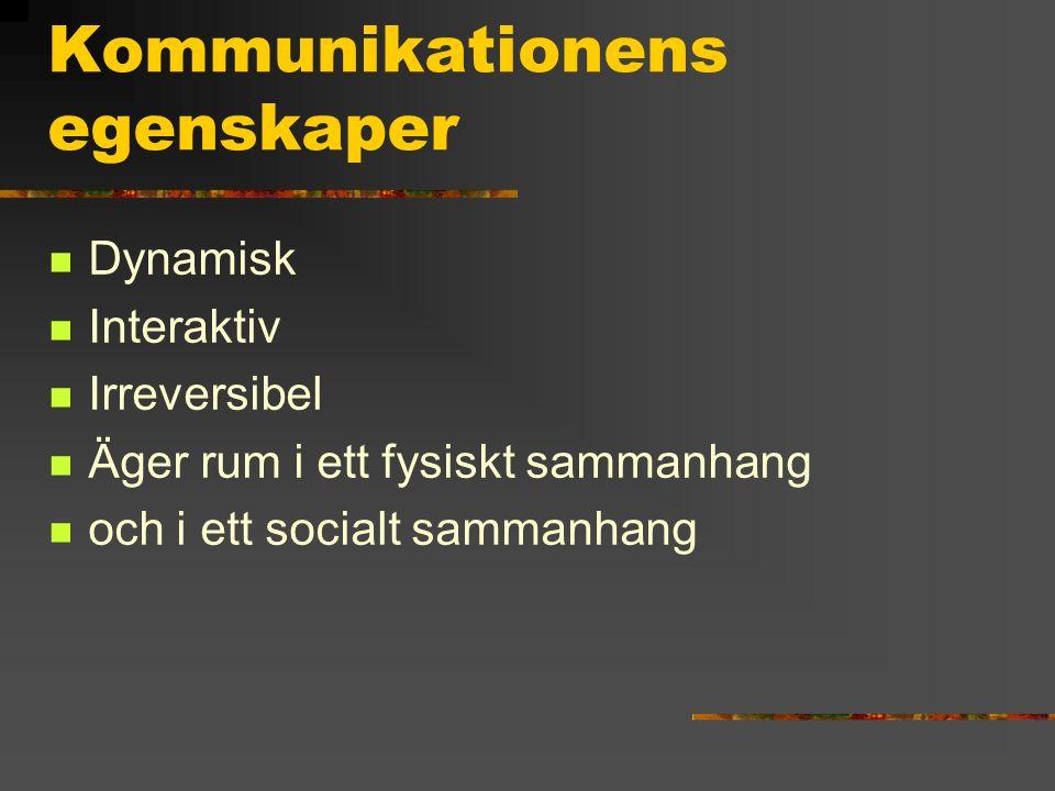 Kommunikationens egenskaper