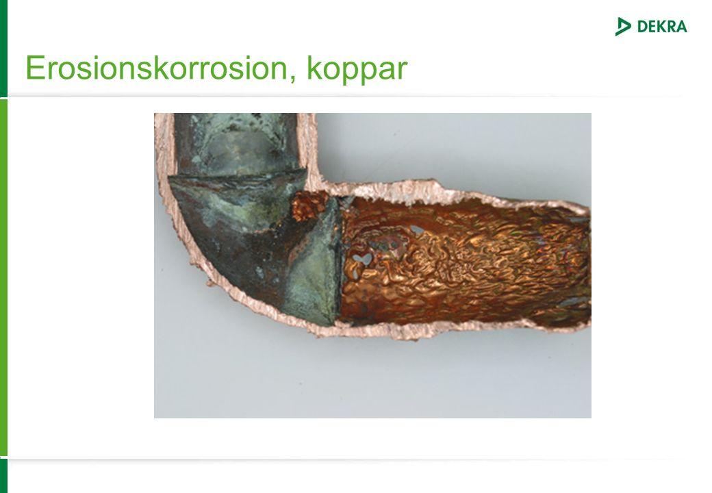 Erosionskorrosion, koppar