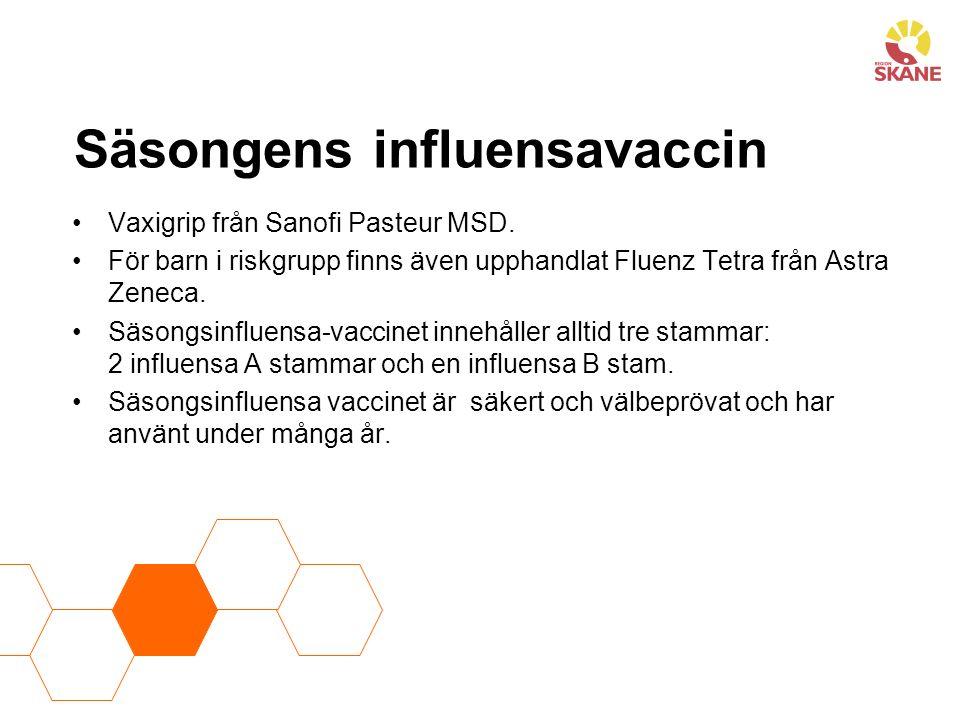 Säsongens influensavaccin