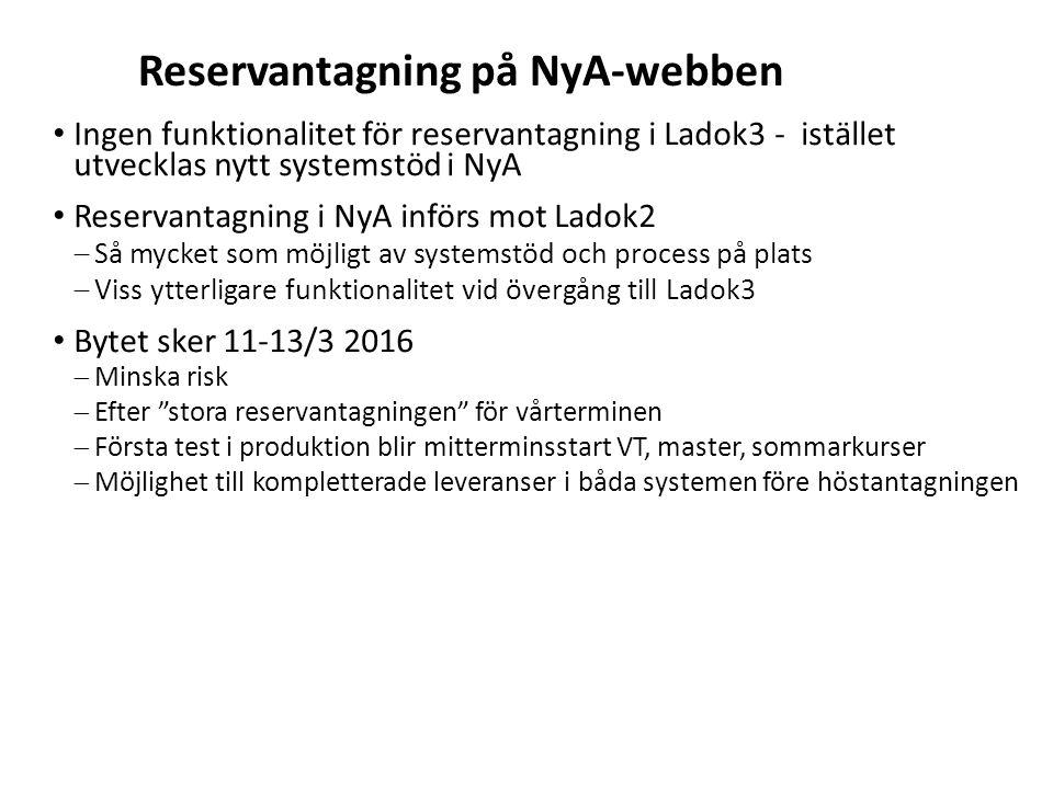 Reservantagning på NyA-webben
