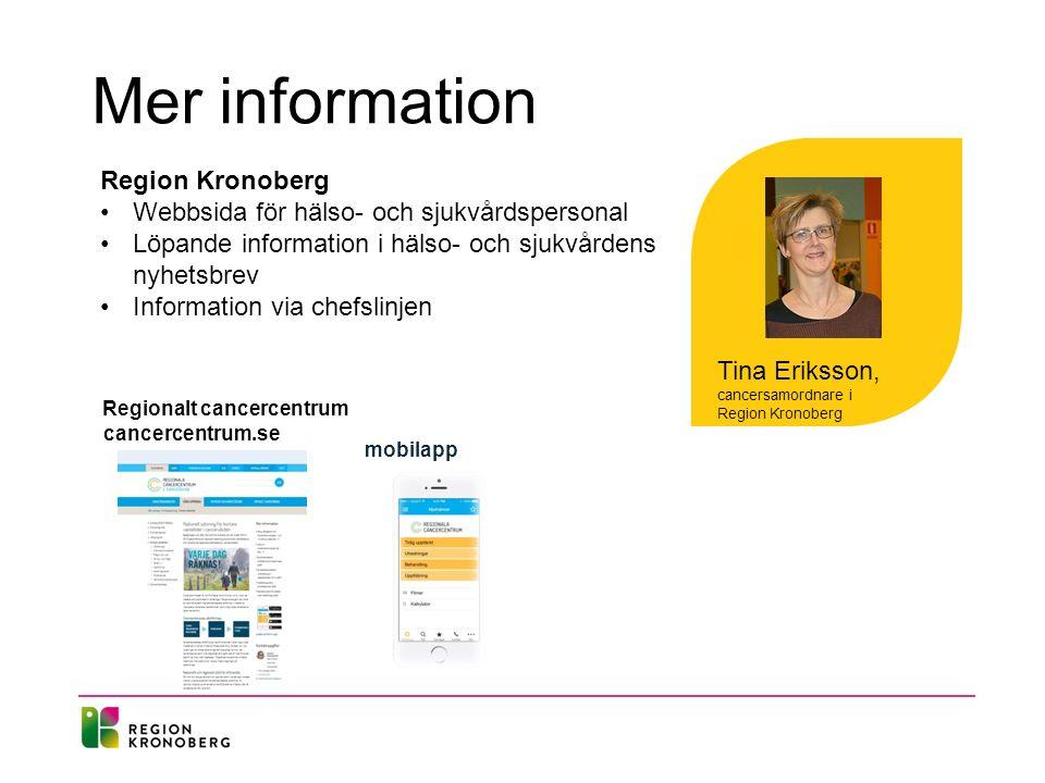 Mer information Region Kronoberg