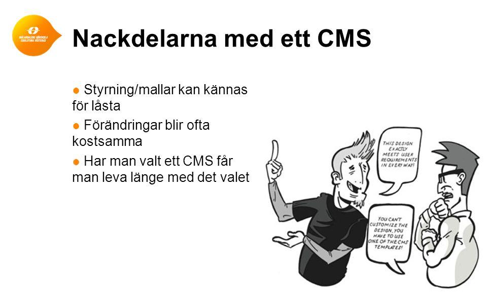 Nackdelarna med ett CMS