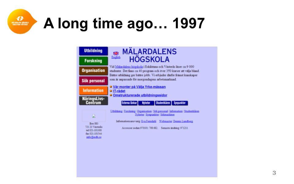 A long time ago… 1997