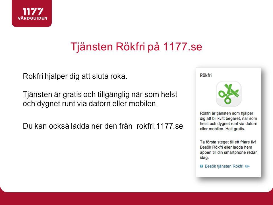 Tjänsten Rökfri på 1177.se