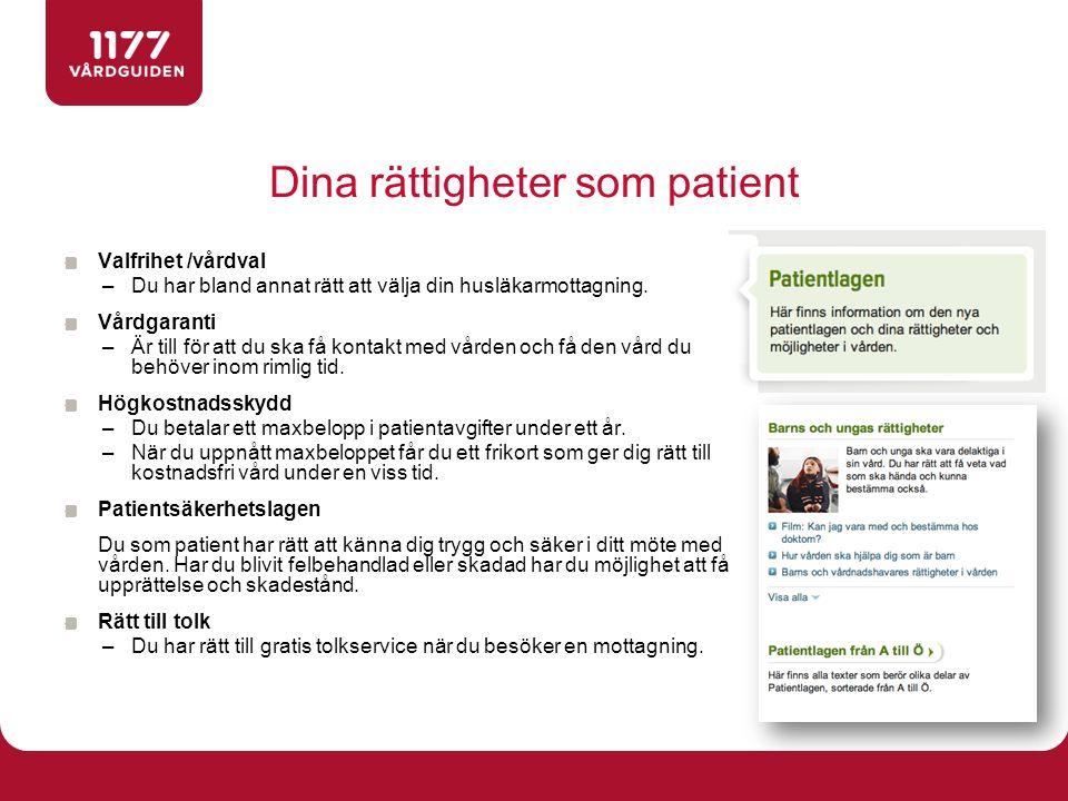 Dina rättigheter som patient