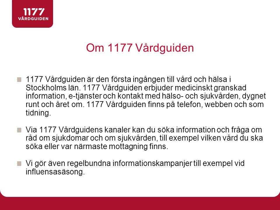 Om 1177 Vårdguiden