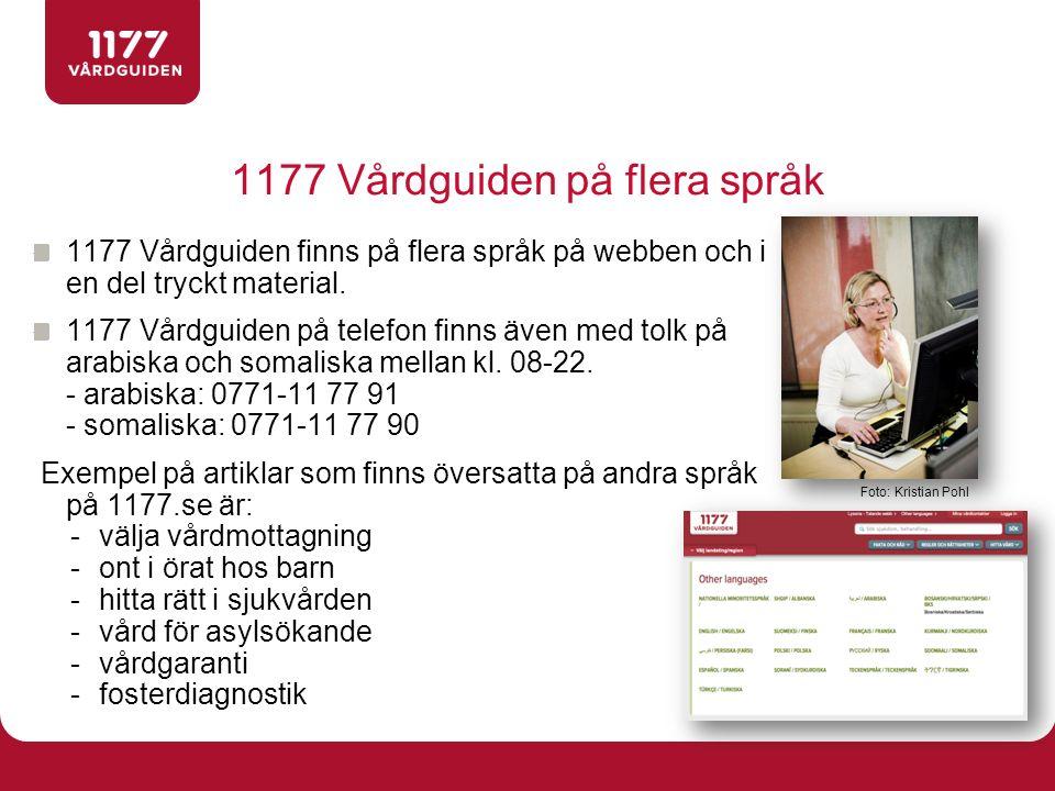 1177 Vårdguiden på flera språk