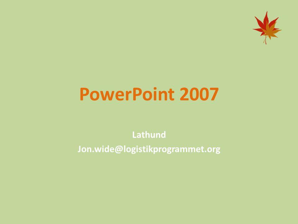 Lathund Jon.wide@logistikprogrammet.org