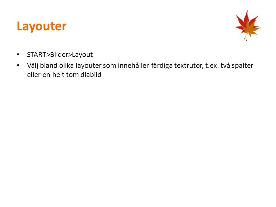 Layouter START>Bilder>Layout