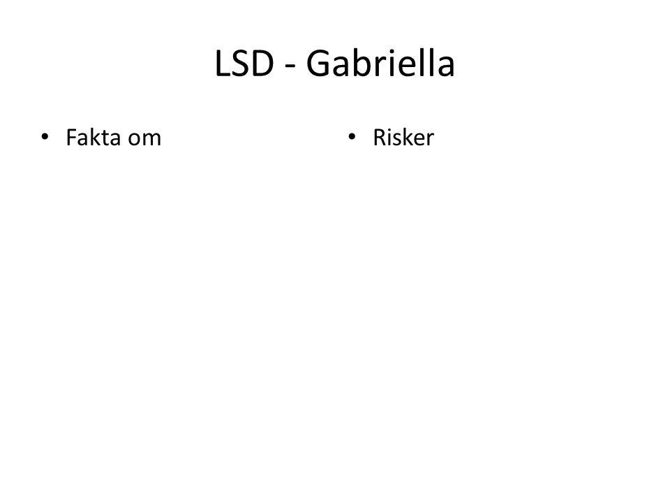 LSD - Gabriella Fakta om Risker