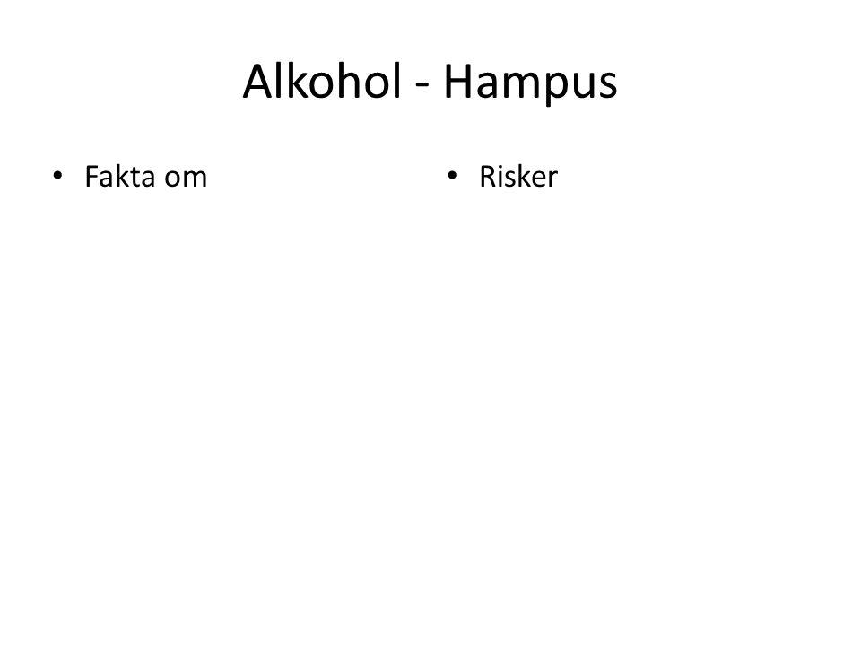 Alkohol - Hampus Fakta om Risker