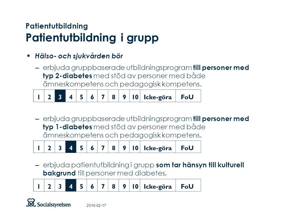 Patientutbildning Patientutbildning i grupp