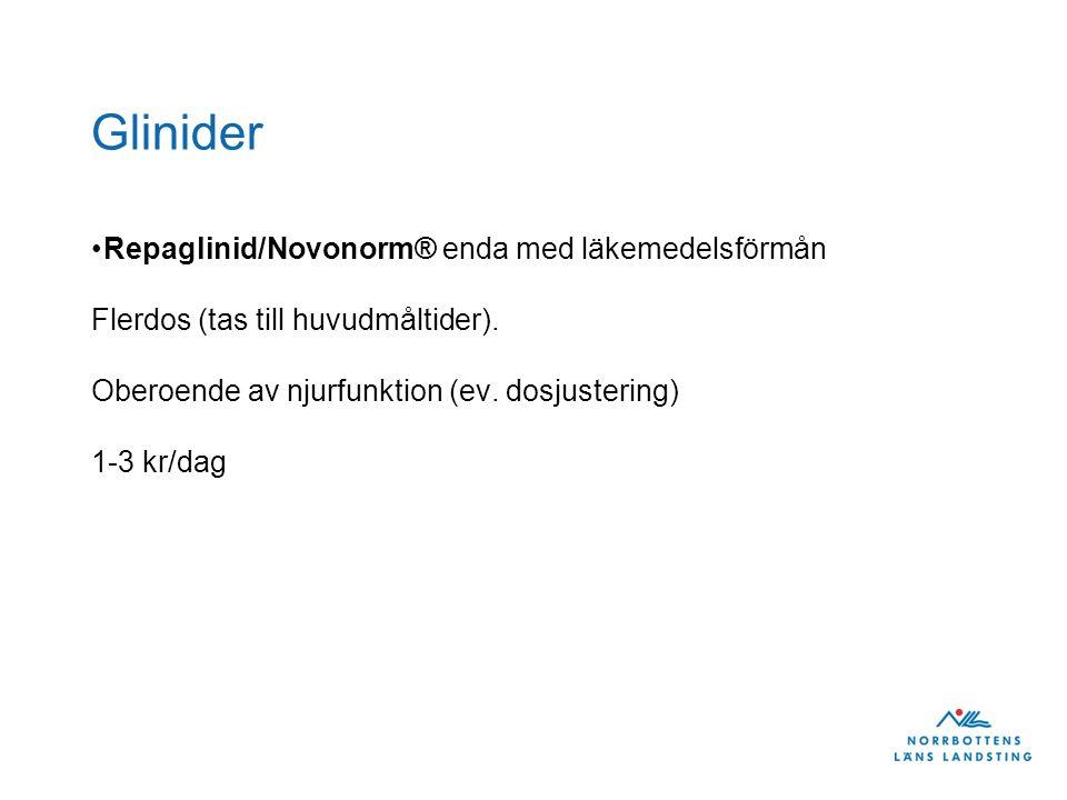 Glinider Repaglinid/Novonorm® enda med läkemedelsförmån