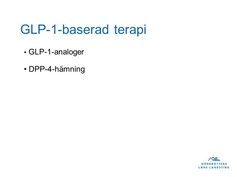 GLP-1-baserad terapi GLP-1-analoger DPP-4-hämning