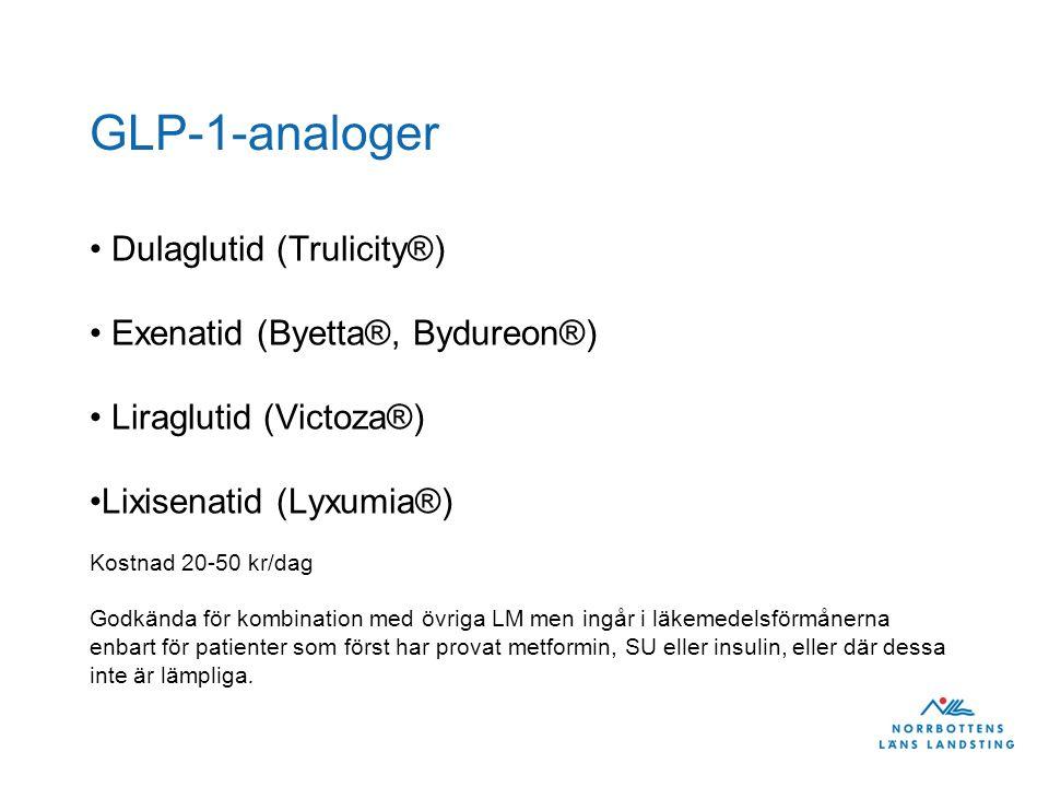 GLP-1-analoger Dulaglutid (Trulicity®) Exenatid (Byetta®, Bydureon®)
