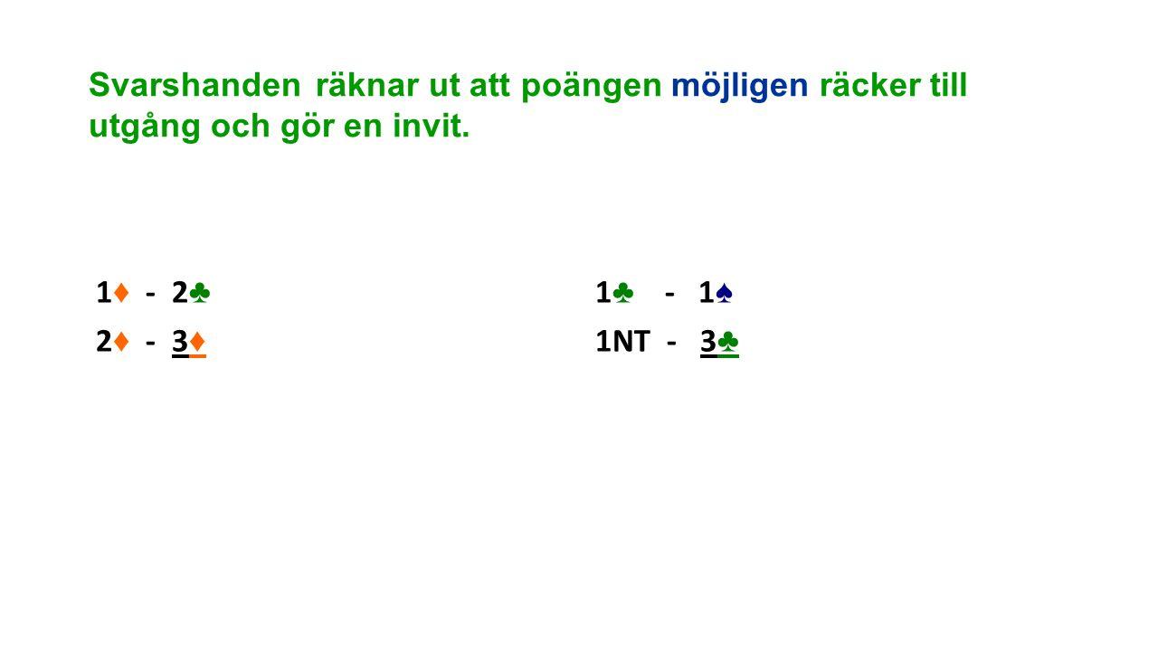 Svarshanden räknar ut att poängen möjligen räcker till utgång och gör en invit.