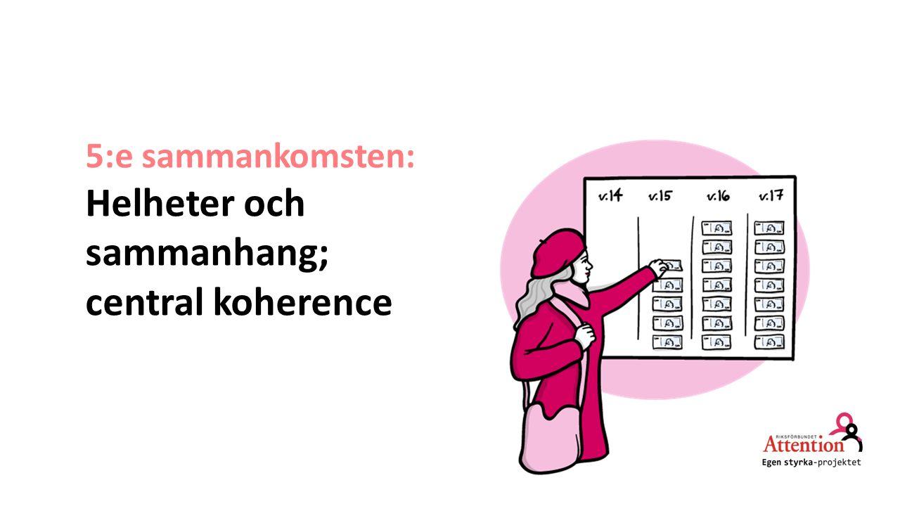 Helheter och sammanhang; central koherence