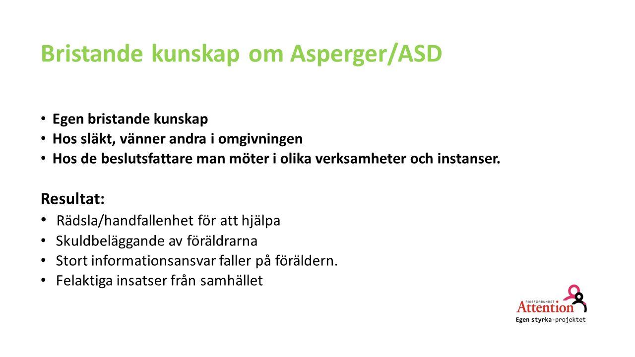 Bristande kunskap om Asperger/ASD
