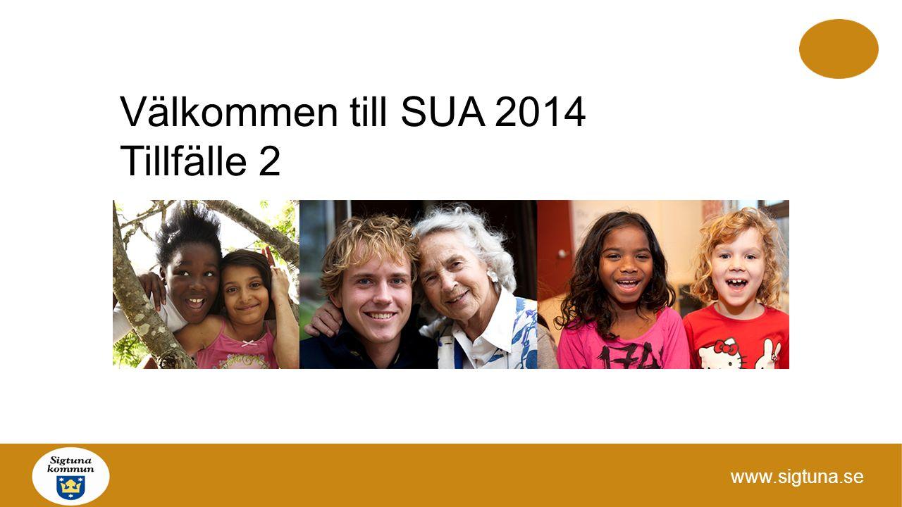 Välkommen till SUA 2014 Tillfälle 2