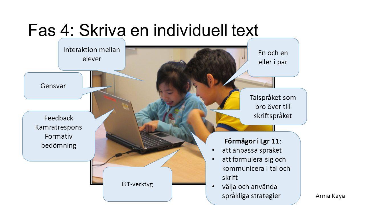 Fas 4: Skriva en individuell text