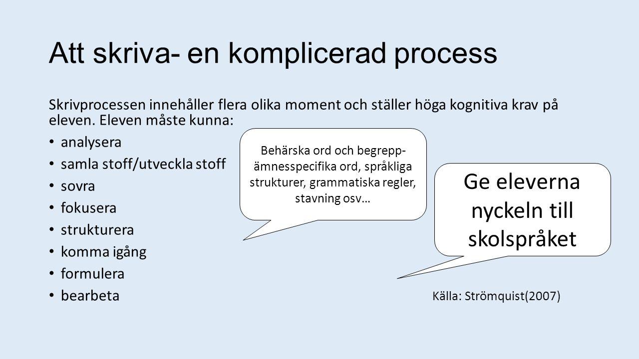 Att skriva- en komplicerad process