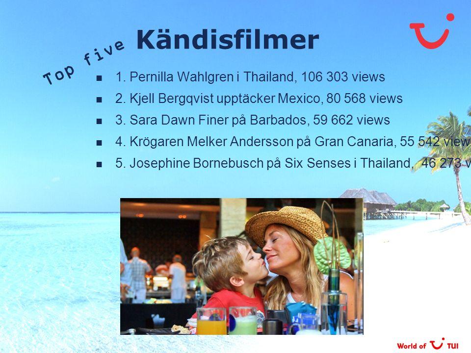 Kändisfilmer Top five 1. Pernilla Wahlgren i Thailand, 106 303 views