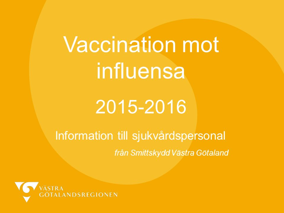 Vaccination mot influensa 2015-2016