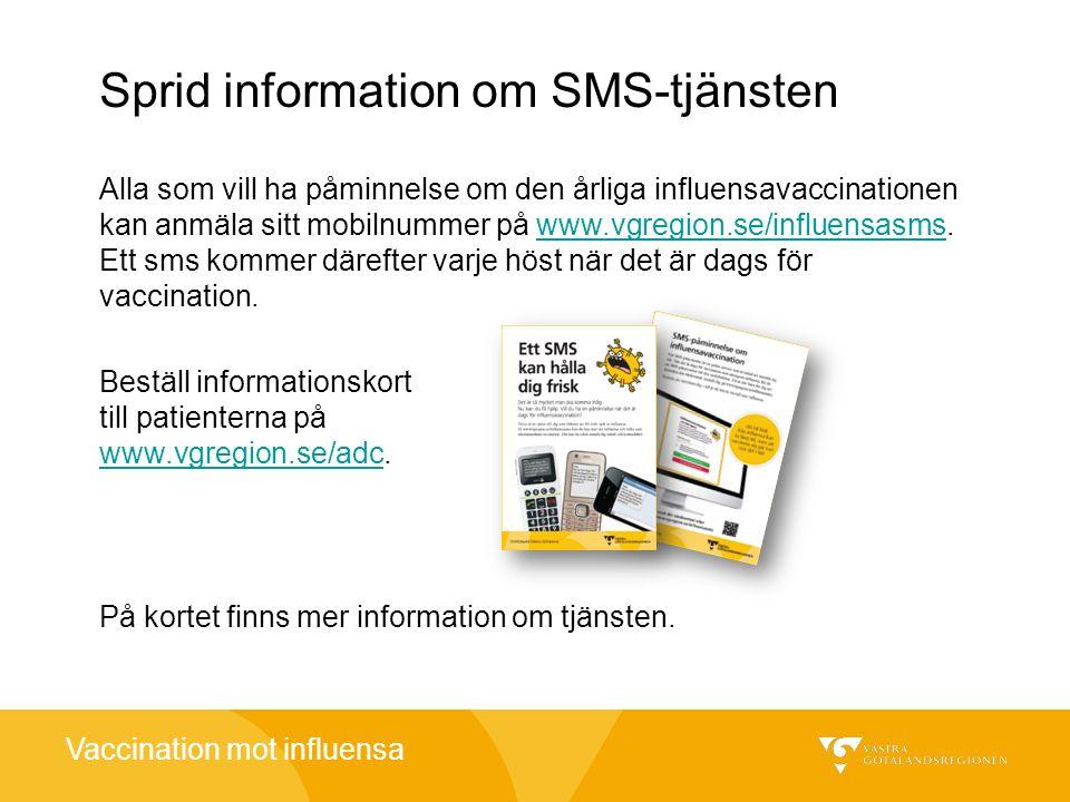 Sprid information om SMS-tjänsten