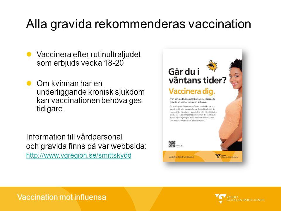 Alla gravida rekommenderas vaccination