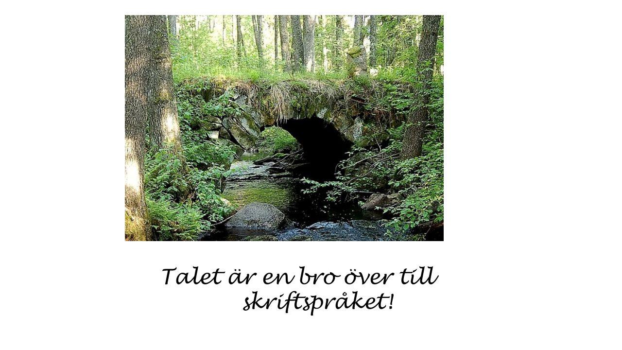 Talet är en bro över till skriftspråket!