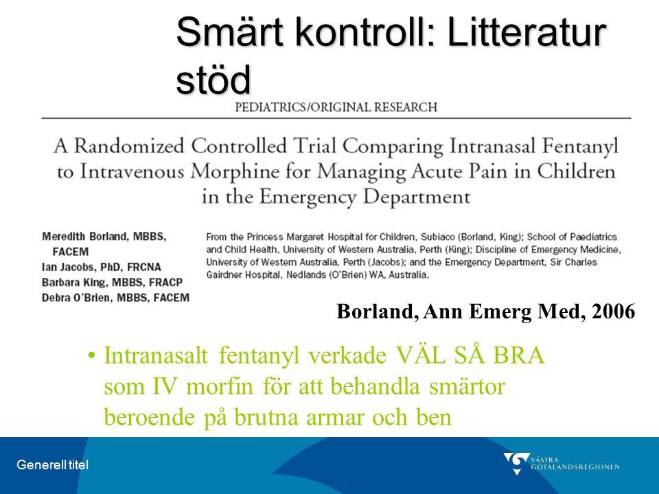 Smärt kontroll: Litteratur stöd