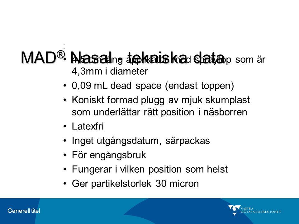 MAD® Nasal - tekniska data