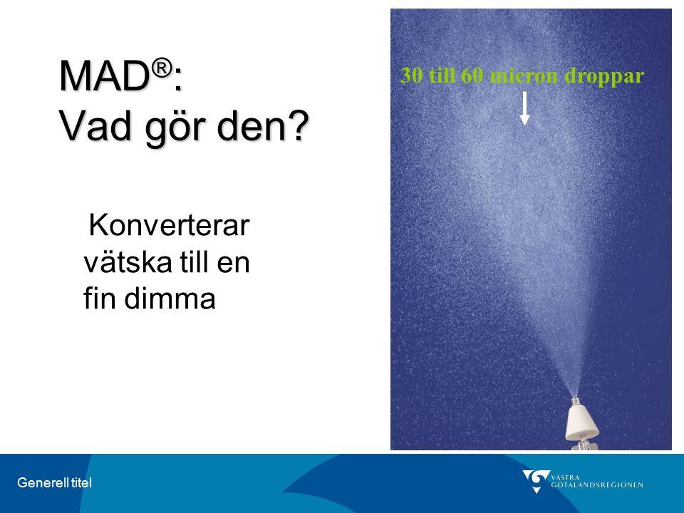 MAD®: Vad gör den 30 till 60 micron droppar