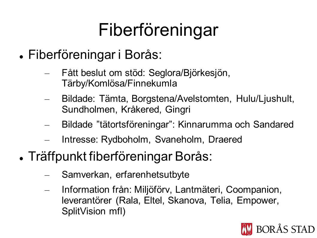Fiberföreningar Fiberföreningar i Borås: